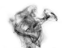 Abstract smoke on white Royalty Free Stock Image