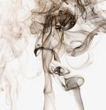 Abstract smoke on white background royalty free stock photography
