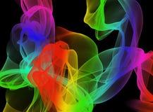 Abstract smokey pattern. Abstract colourful smokey wispy pattern Royalty Free Stock Photos