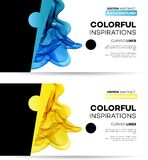 Abstract smoky waves  background. Template. Vector Abstract smoky waves  background. Template brochure design Stock Photo