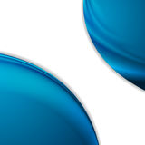Abstract smooth blue waves on white background. Vector design Stock Photos