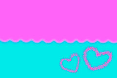 Abstract smooth blur blue and pink background with heart.  Royalty Free Stock Images