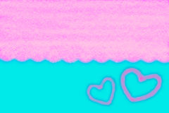 Abstract smooth blur blue and pink background with heart.  Royalty Free Stock Photo