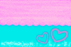 Abstract smooth blur blue and pink background with heart.  Stock Photos