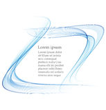 Abstract smooth color wave . Curve flow blue motion illustration. Smoke blue wave design. Vector lines. Stock Photos