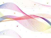 Free Abstract Smooth Color Wave Vector. Curve Flow Colorful Motion Illustration. Royalty Free Stock Image - 90972286