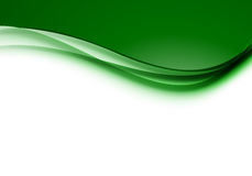 Abstract smooth design background. With green bright waves in elegant dynamic style. Vector illustration stock illustration