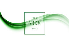 Abstract smooth design template. With green elegant waves in light dynamic style. Vector illustration stock illustration