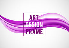 Abstract smooth design template. With purple bright wavy lines in dynamic soft style on light background. Vector illustration vector illustration