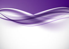 Abstract smooth elegant design background. With purple light wavy lines in dynamic style. Vector illustration stock illustration