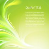 Abstract smooth green lines. Vector background, contains transparencies Royalty Free Stock Photos