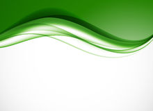 Abstract smooth light design background. With green curved elegant waves in dynamic soft style. Vector illustration royalty free illustration