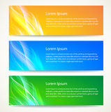Abstract smooth lines banners set. Stock Image
