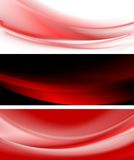 Abstract smooth vector waves banners Stock Image