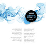 Abstract smooth wave motion illustration Stock Photos