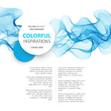 Abstract smooth wave motion illustration Royalty Free Stock Photography