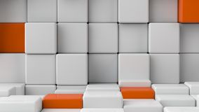Abstract smooth white cubes as background. Stock Photos