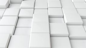 Abstract smooth white cubes as background. Royalty Free Stock Photo