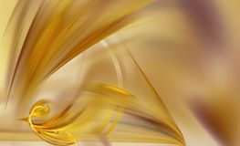 Abstract Smooth Yellow Gold Folds Royalty Free Stock Images