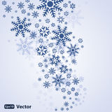 Abstract snow background vector. Snowflakes on a grey background Royalty Free Stock Photo