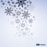 Abstract Snow Background Vector. Snowflakes On a Grey Background Stock Photography