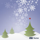 Abstract Snow Background Vector Royalty Free Stock Image