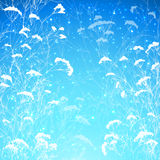 Abstract snow branches vector background. Abstract blue branches with snow vector background Royalty Free Stock Photography