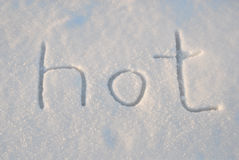 Hot Abstract Snow Drawing Stock Photography