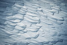Abstract Snow Drifts Stock Image