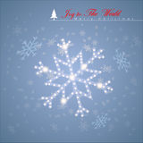 Abstract Snow flages. Abstract Snow flages with shiny stars. Vector Illustration, EPS 10 Royalty Free Stock Photos