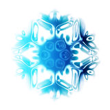 abstract snow flake Stock Photo