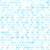 Abstract snow flake pattern wallpaper. Vector. Illustration for funny holiday winter design. Blue and white colors. Seamless background. Endless texture can be Royalty Free Stock Photos