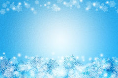 Abstract snow freeze blue and white color background texture for Royalty Free Stock Photos