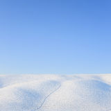 Abstract snow rolling hills landscape in winter. Tuscany, Italy Royalty Free Stock Images