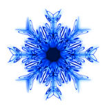 Abstract snow star. Blue snow star generated by the computer Royalty Free Stock Images