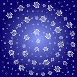 Abstract snow star pattern Stock Photos