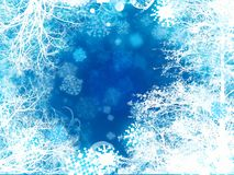 Abstract snow tress snowflake background Royalty Free Stock Images
