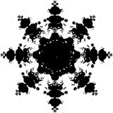Abstract snowflake. Vector image of an abstract snowflake Royalty Free Stock Image