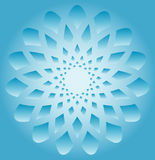 Abstract snowflake Stock Photo