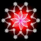Abstract snowflake Royalty Free Stock Photos