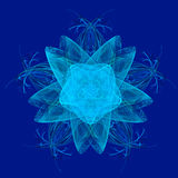 Abstract snowflake Stock Image