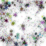 Abstract snowflake background Royalty Free Stock Photos