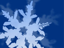 Abstract snowflake background. Abstract background of a blue snowflake Royalty Free Stock Image