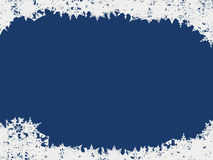 Abstract Snowflake Background. Abstract blue background with snowflake border.  Also available in vector format Royalty Free Stock Photos