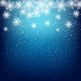 Abstract snowflake background. Abstract blue snowflake background for Your design Royalty Free Stock Photos