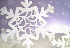 Abstract snowflake background Royalty Free Stock Image