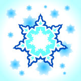 Abstract snowflake background. Vector illustration of abstract snowflake background Royalty Free Stock Images