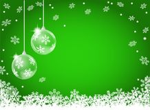 Free Abstract Snowflake Background With Two Christmas Baubles Royalty Free Stock Photo - 104045815