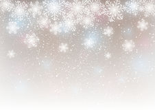 Abstract snowflake background Stock Photography