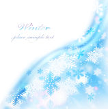 Abstract snowflake border Stock Photo